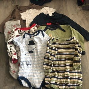 9 month bundle baby boy clothes!
